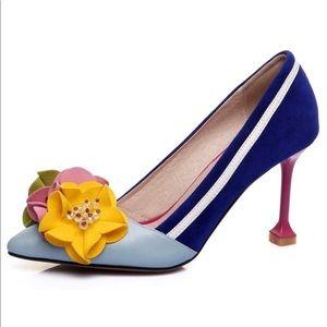 Nine Seven Whimsical Flower Heel.